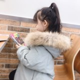 2019 children's clothing new baby down jacket winter clothes boys and girls in the long thick thick fur collar western style coat tide