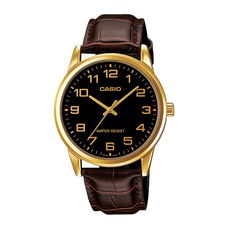 简约复古指针商务石英男士皮带手表  系列 V001 Casio 卡西欧 MTP