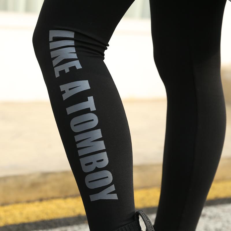 孕妇打底裤春夏季薄款孕妇裤子春装运动潮妈时尚纯棉小脚黑色外穿