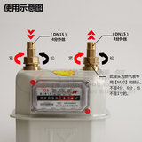 Natural gas meter steal gas fitting G4G2.5 m30 iron special leakproof gas meter copper fittings