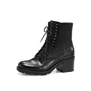 ASH女鞋秋季新款马丁靴XIN系列时尚靴牛皮低筒中高跟短靴