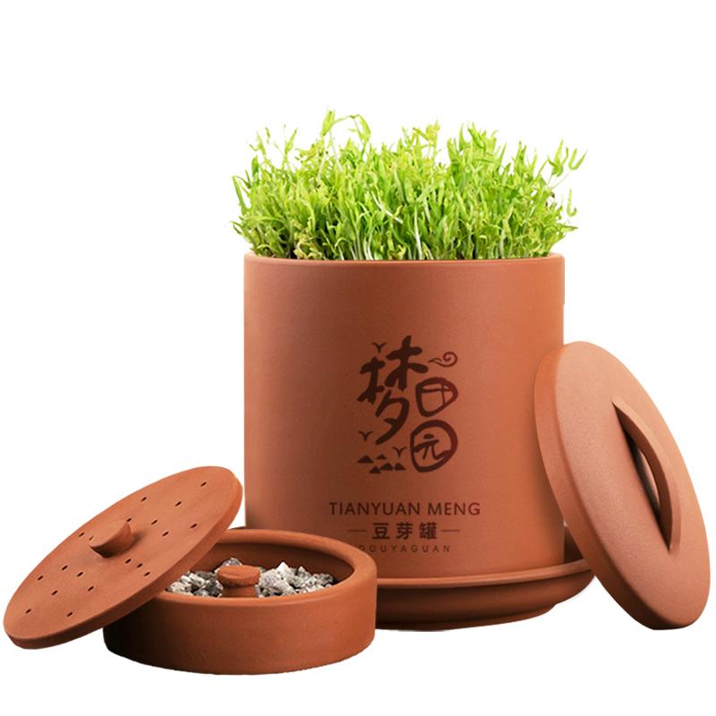 豆芽罐家用土陶豆芽机全自动大容量发豆芽罐机生花生绿豆芽种植盆