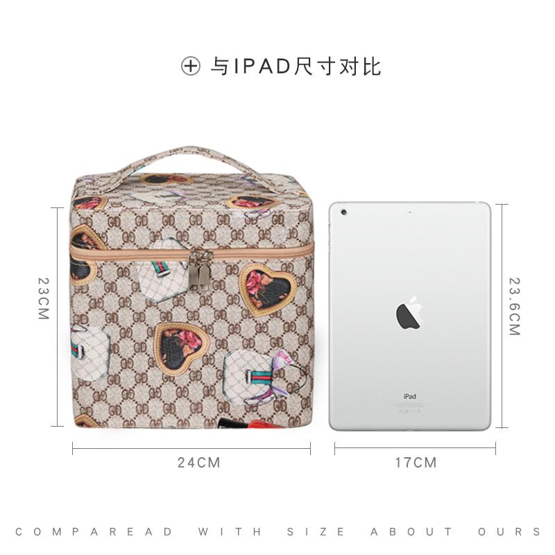 网红化妆包ins风超火品少女便携随身韩国简约大容量收纳箱盒手提
