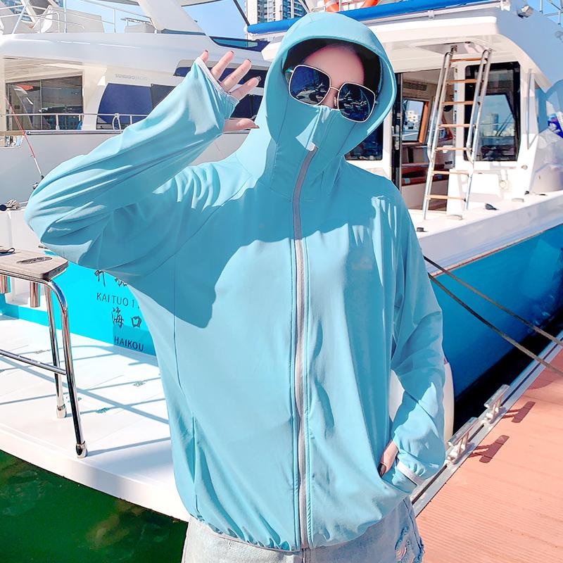 防晒衣女2021年新款夏季薄款外套防紫外线透气防晒服罩衫冰丝开衫 No.4