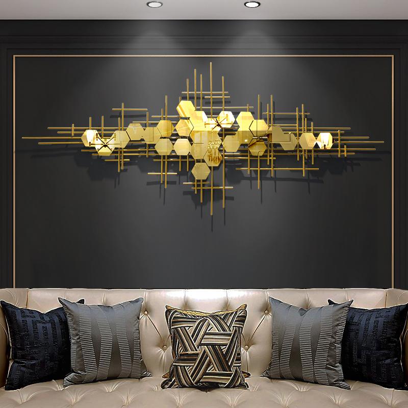北欧客厅轻奢壁饰金属墙饰沙发背景墙挂件现代简约挂饰卧室装饰品