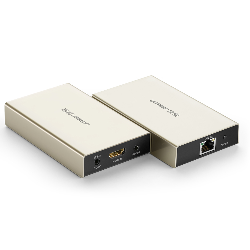 网络转换连接器 3d 米一对多高清 120 米 100 延长器单网线传输 hdmi 绿联