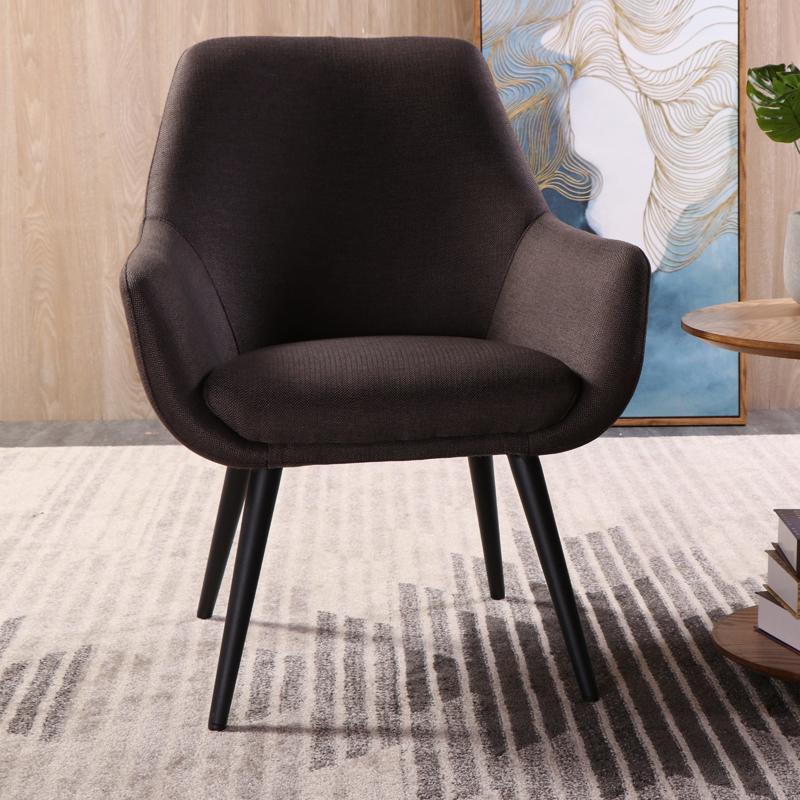北欧单人休闲沙发椅布艺设计师客厅餐椅书房椅现代简约单椅电脑椅