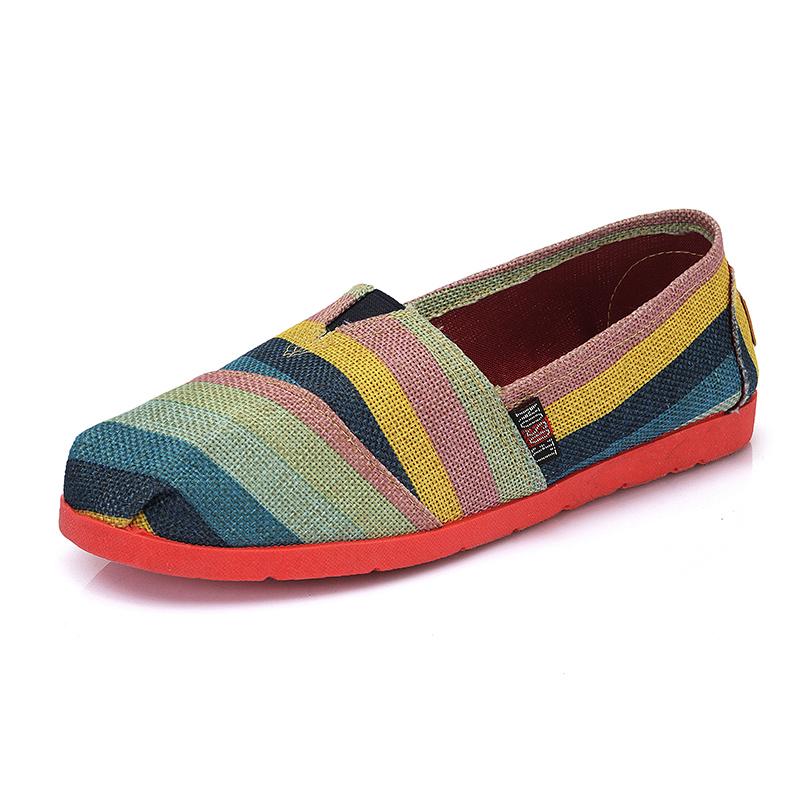 帆布鞋女新款韩版轻便透气休闲鞋一脚蹬懒人玛丽鞋低帮老北京布鞋