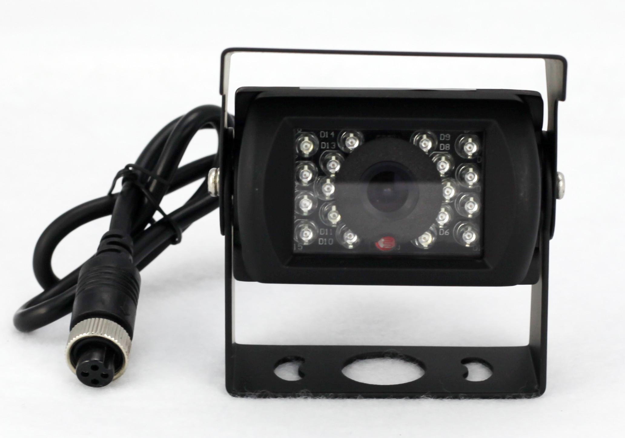 车载摄像头高清倒车影像后视大客巴货车通用防水夜视航空头/RCA头
