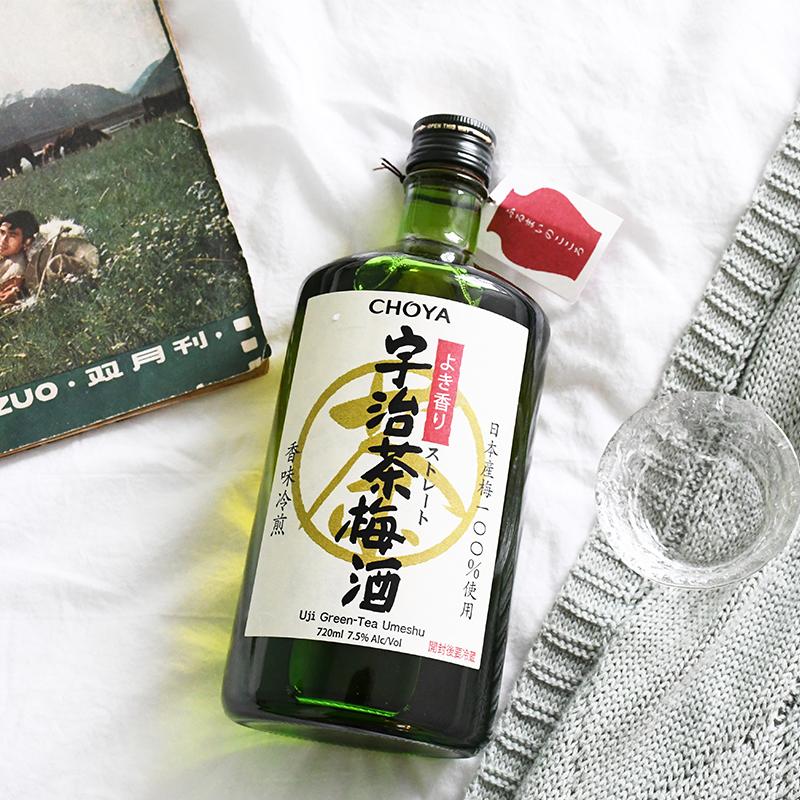720ml 蝶矢俏雅宇治茶梅酒日本原装进口青梅酒女士果酒梅子酒梅酒