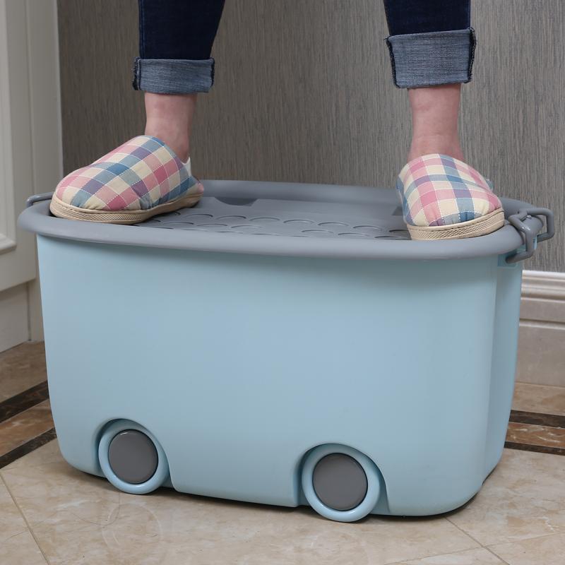 特大号儿童收纳箱塑料宝宝玩具衣服整理箱储物箱子婴儿收纳盒神器【图3】