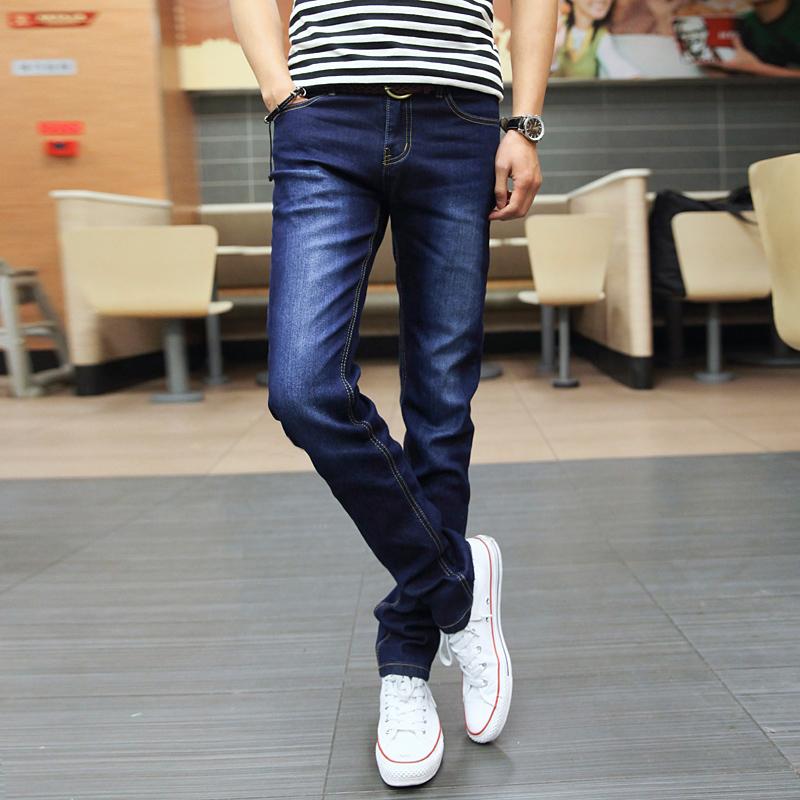 弹力夏季牛仔裤男士修身小脚黑色休闲直筒裤子男韩版潮流潮牌薄款