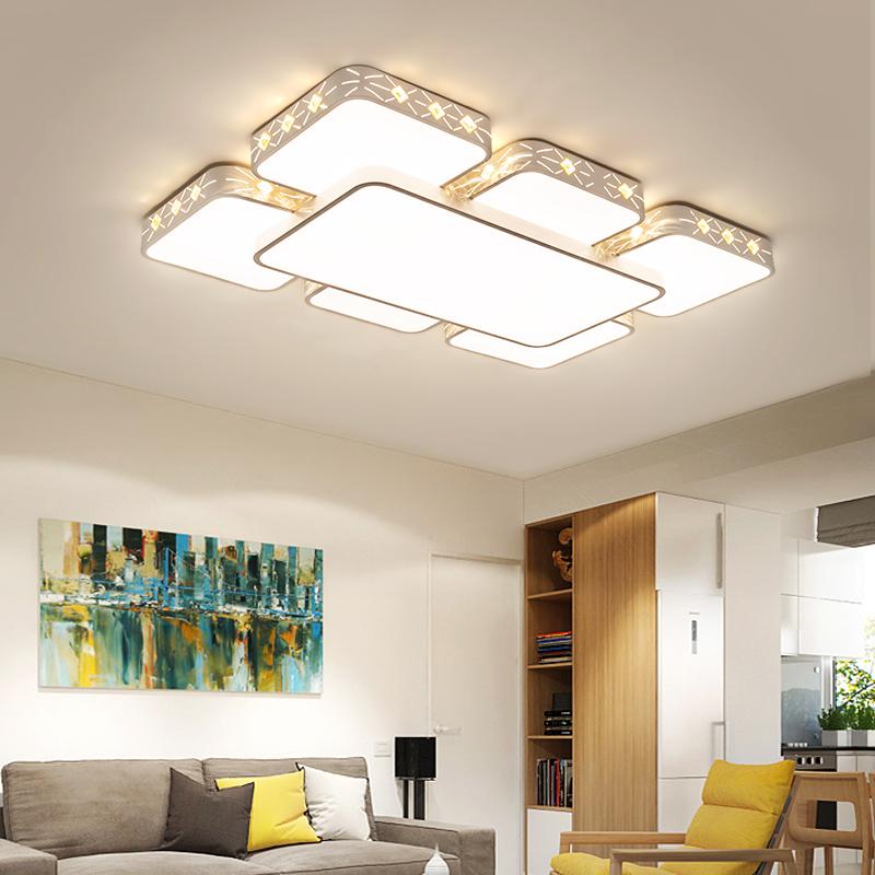 吸顶灯长方形水晶客厅灯温馨大气卧室灯现代简约书房灯具 LED 新款