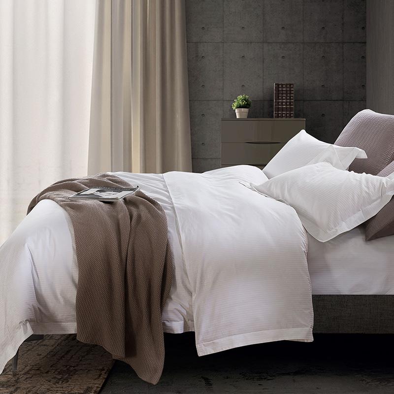 支纯棉四件套床单被套全棉套件长绒棉床笠床上用品 100 世茂希尔顿