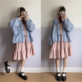 Labeau-可颂-古着感针织宽松短外套女2019新款复古灯笼袖毛衣开衫