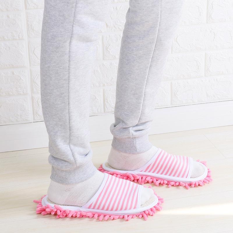包邮特价雪尼尔拖鞋地板懒人擦地拖可拆洗家居厨房卧室静音清洁鞋