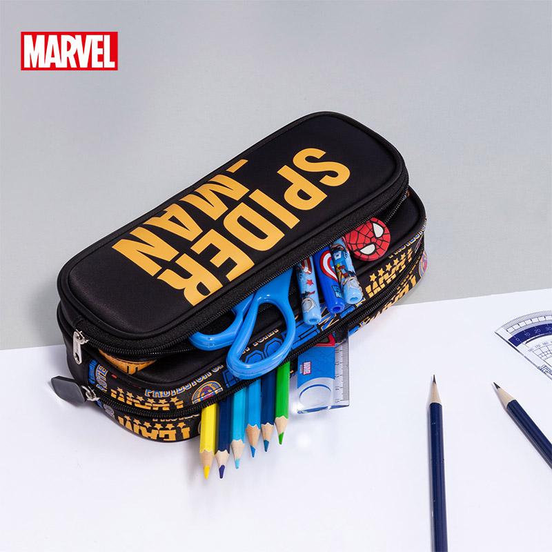 【迪士尼】双层大容量帆布铅笔袋