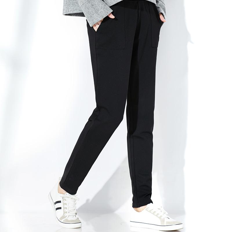 大码哈伦裤女胖mm2018新款秋季韩版宽松显瘦高腰小脚黑色休闲长裤