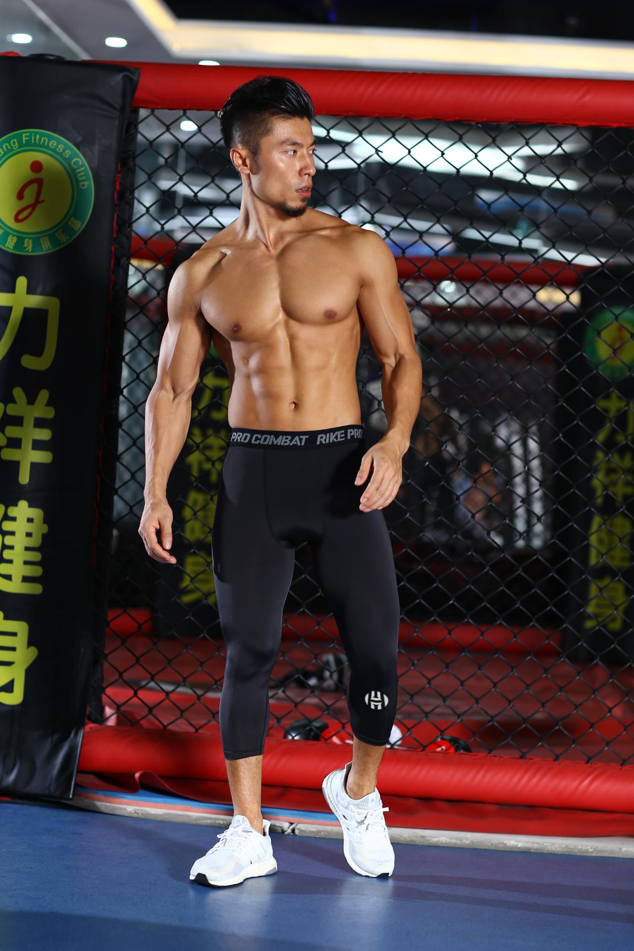 科比紧身裤男健身服跑步运动压缩裤篮球打底裤七分裤高弹速干训练