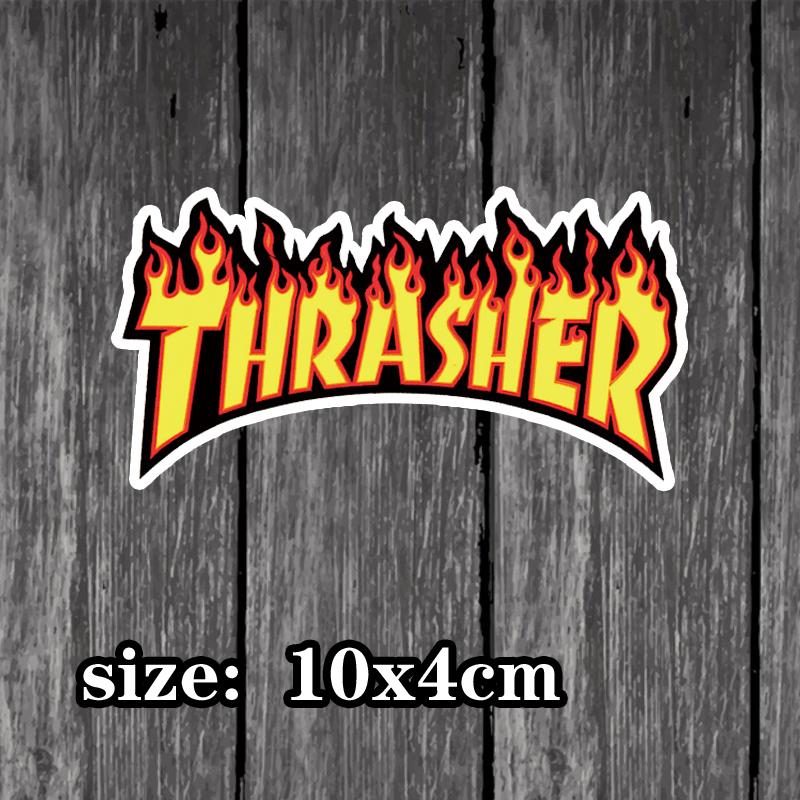 [淘寶網] thrasher旅行箱貼紙行李箱拉桿箱筆記本滑板單板重金屬防水貼畫