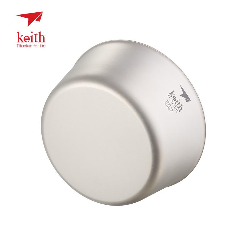 keith铠斯双层钛碗饭碗防烫隔热户外居家纯钛餐具便携儿童碗