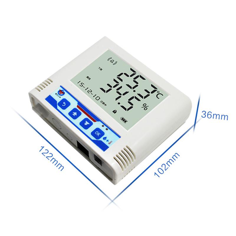 建大仁科温湿度传感器变送器温湿度计记录仪液晶485modbus