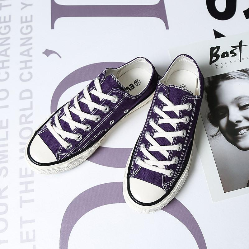 名仕匡威回力高帮帆布鞋女 uzzlang 板鞋男 1970S 乔驰万斯正品电光紫