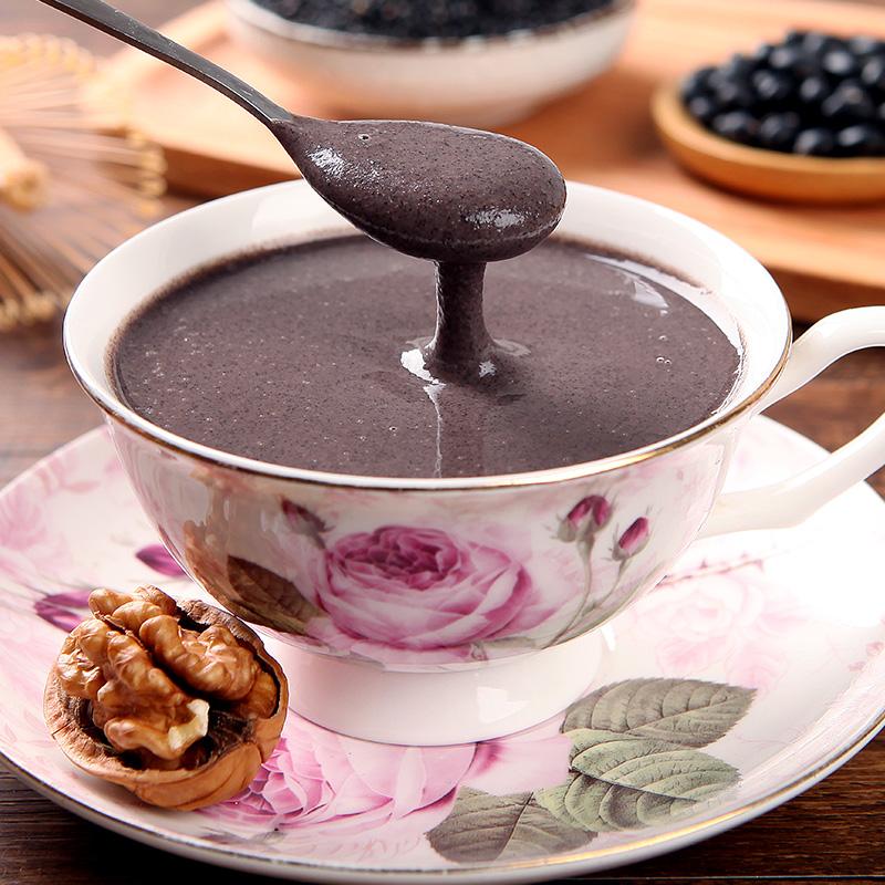 黑芝麻核桃黑豆桑葚粉 现磨熟黑芝麻糊 即食代餐粉粥营养早餐食品