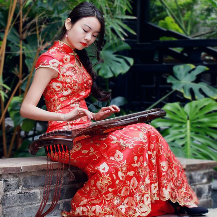 伏羲仲尼式古琴初学者练习老桐木生漆无瑕疵古琴厂家直销
