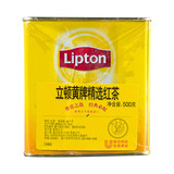 Lipton tea powder 500g canned small yellow Hong Kong-style tea, lemon tea broken tea special import Xi Lanxi cold