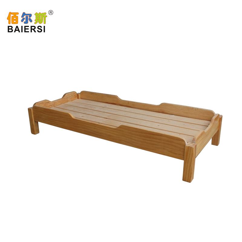 佰尔斯幼儿园午睡床环保漆实木床松木叠叠床小学生午托宝宝托管床
