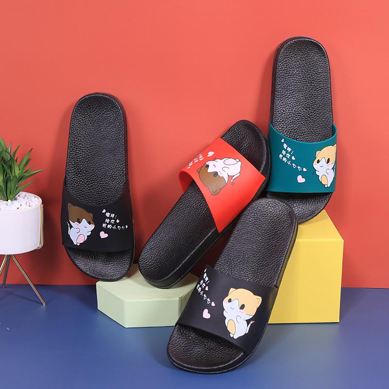 卡通拖鞋女夏室内居家浴室洗澡防滑软底不臭脚可爱情侣凉拖鞋新款
