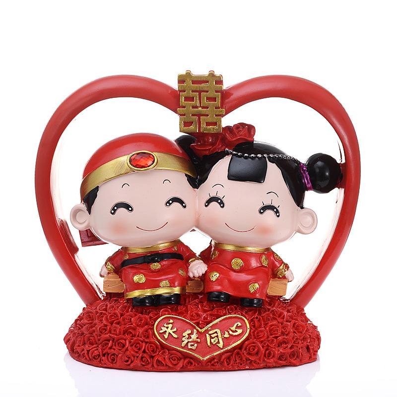 婚庆礼用品结婚情侣娃娃套装摆件礼物送新人闺蜜实用婚房布置装饰