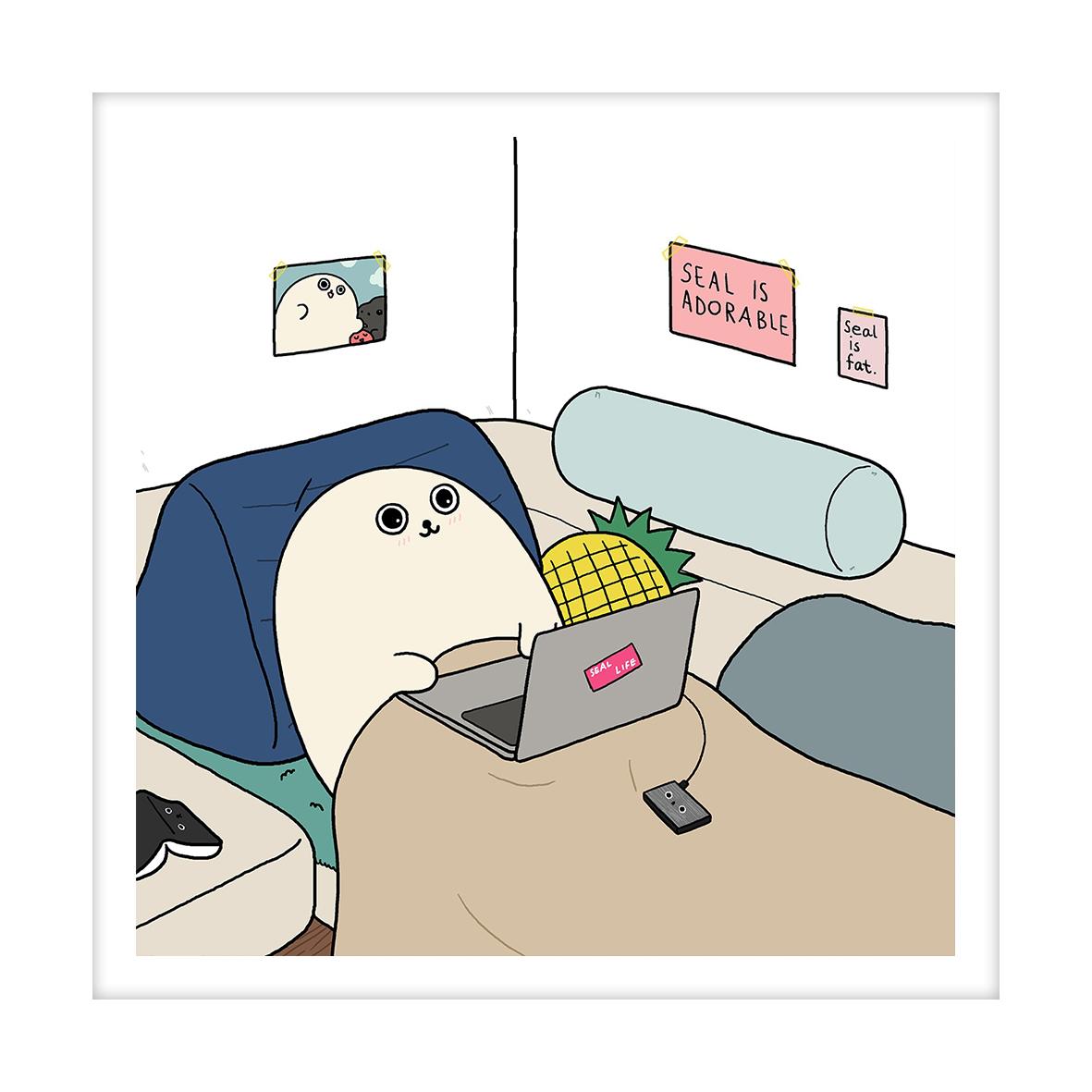 【王XX官方限量版画】小海豹系列|我还不错