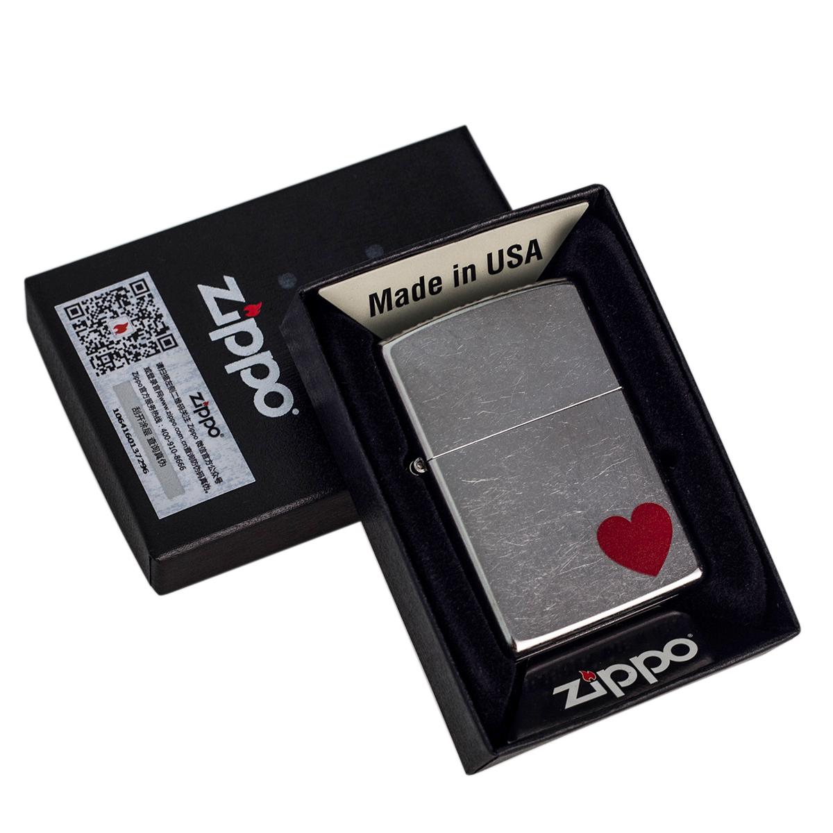 ZIPPO正版打火机 角落里的爱29060 恋爱礼物 芝宝官方正品ZIPPO
