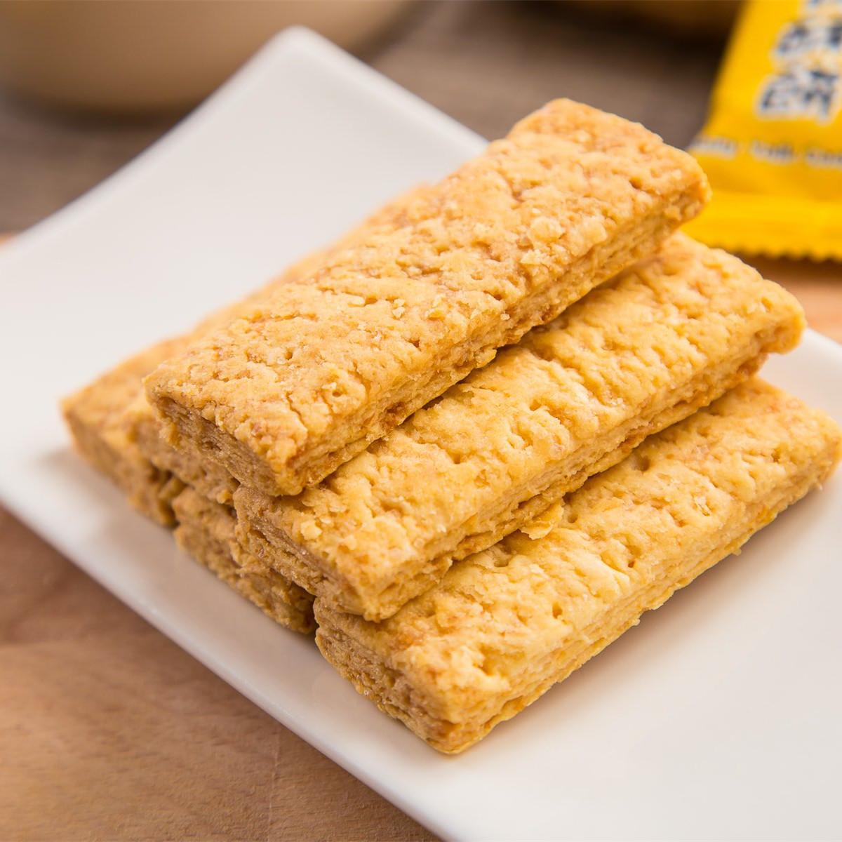粗粮方块酥办公零食进口食品 咸蛋黄饼干 250g 台湾咸蛋黄酥饼