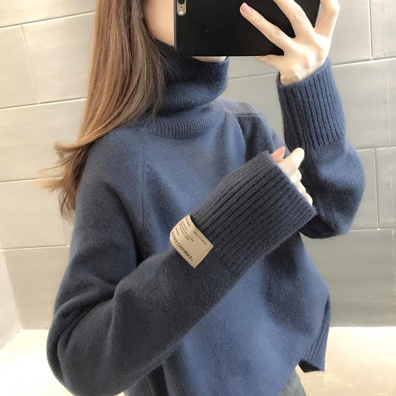 2020年新款秋冬装女士加绒加厚高领毛衣服女装爆款宽松外穿打底衫 【在售价】88.00 元 ----------------- 【立即下单】点击链接立即下单:https://s.click.taoba