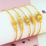 The new transfer beads gold bracelet 18K 24K jewelry bracelets to send his girlfriend Valentines Day gift Sansei III