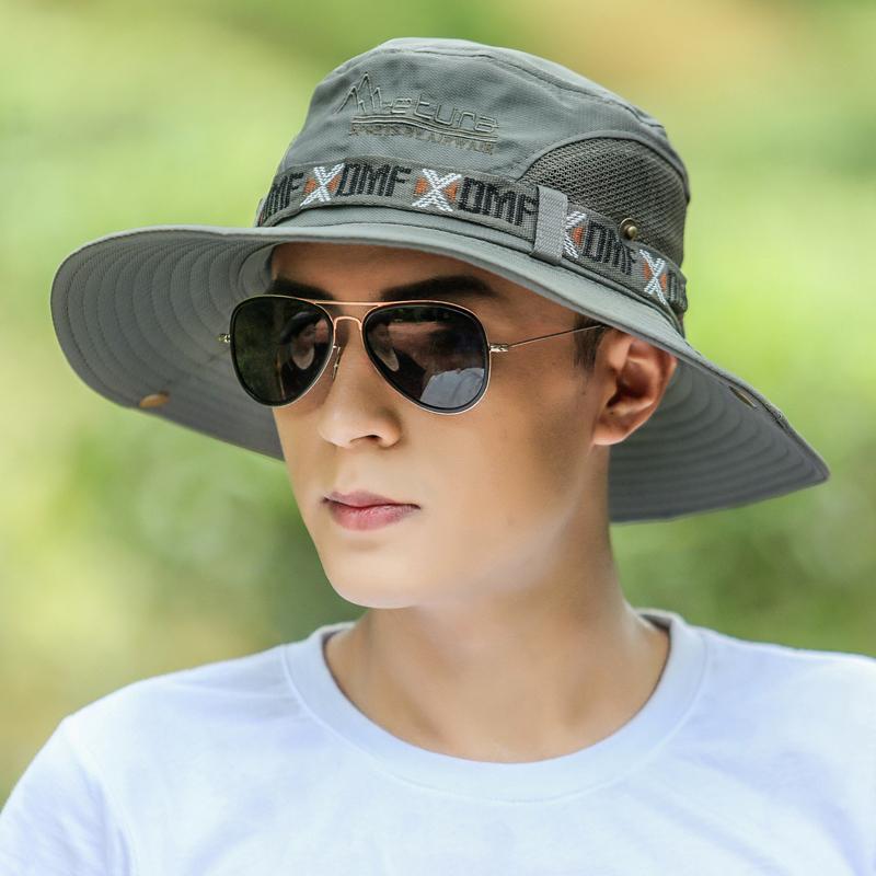 帽子男夏天渔夫帽户外防晒遮阳帽太阳帽韩版男士沙滩登山钓鱼帽