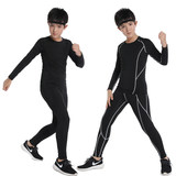 Children tights training suit boys run fast drying Workout clothes bottoming summer basketball football kit