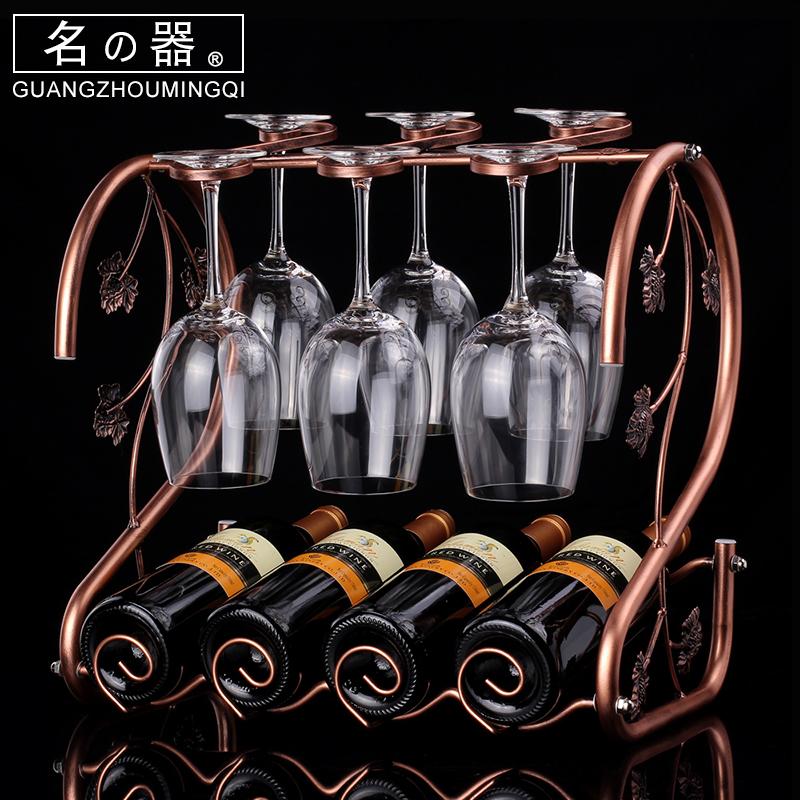红酒杯架倒挂酒架家用不锈钢创意高脚杯架葡萄酒杯架酒欧式摆件