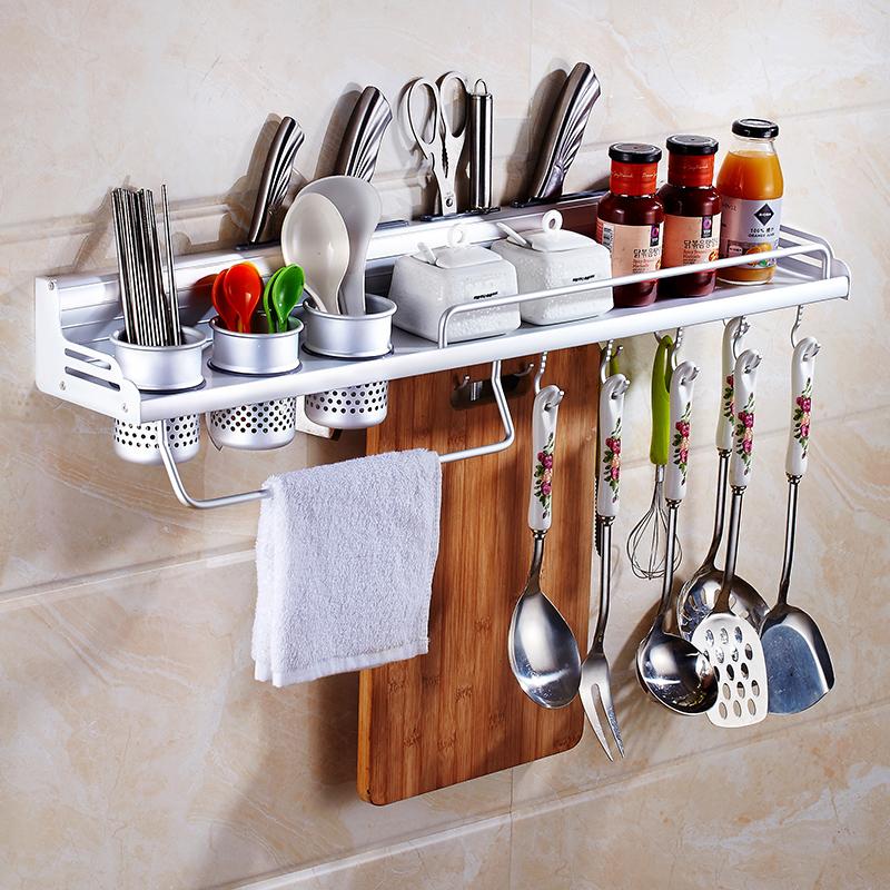 免打孔厨房置物架壁挂式收纳调料挂架子厨具用品用具家用大全刀架