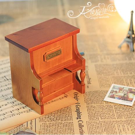 纸带谱曲钢琴音乐盒谱曲八音盒木质生日礼物送女友创意 diy 手摇