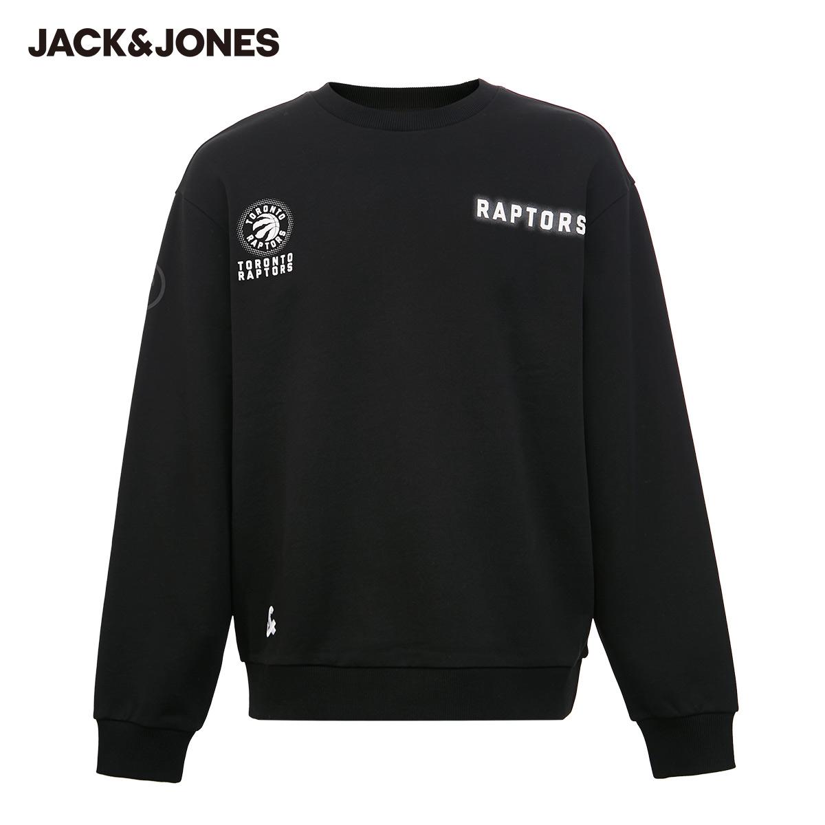 【预售】杰克琼斯秋季男NBA联名猛龙球队立体印花卫衣221133070