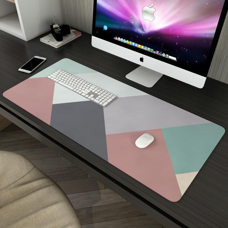 鼠标垫超大号简约个姓文艺男女生办公室游戏电竞加厚防水电脑桌垫