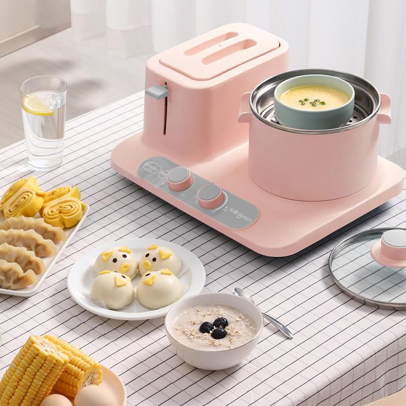 Donlim/东菱 DL-3405早餐机多功能四合一家用烤面包机小型三明治主图