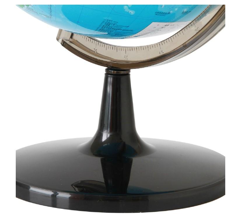 包邮得力地球仪 32cm高清标准教学经典中文地形 大号地球仪学生用