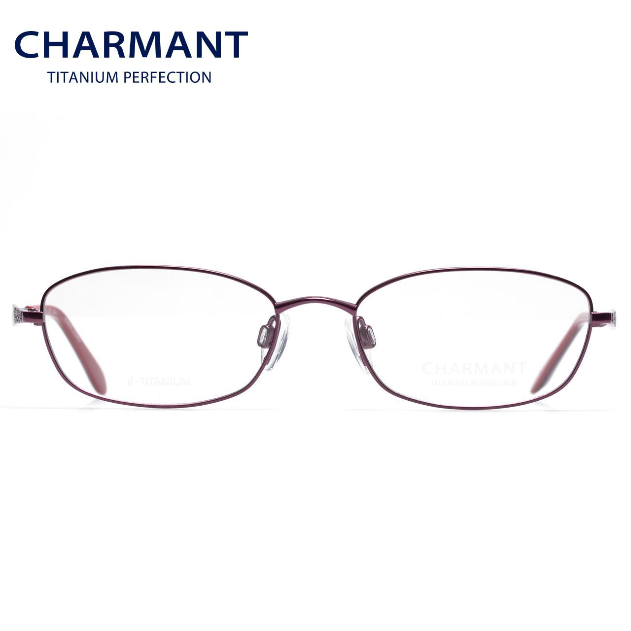 CHARMANT夏蒙眼镜架女士商务全框舒适钛材轻巧近视眼镜框CH10471
