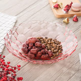 Lead-free crystal glass fruit plate large modern living room creative home coffee table snack fruit plate European-style simple