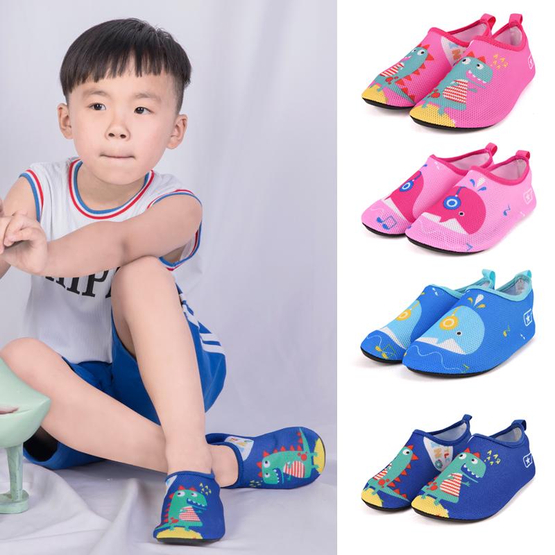 兒童海灘旅遊沙灘襪浮潛鞋潛水襪玩水游泳鞋地板襪防滑軟底貼膚鞋